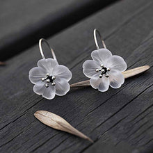 Pansy in the Rain Earrings