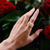 Golden Bee & Pink Flower Ring - thatringshop