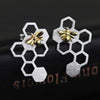 Jardin Honeycomb Stud Earrings - thatringshop