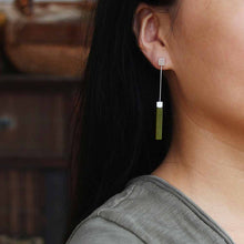 Jardin Natural Olivine Bar Earrings