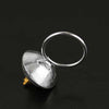 Peeping Cat Silver Sphere Ring - thatringshop