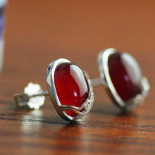 Jardin Vintage Agate Stud Earrings