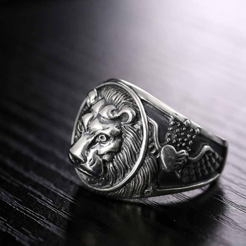 Lion's Heart Sterling Silver Ring
