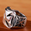 Mega Iron Cross Sterling Silver Ring - thatringshop
