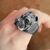 Pit Bull Sterling Silver Ring - thatringshop