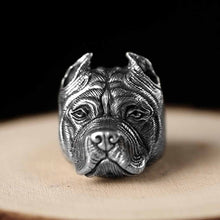 Pit Bull Sterling Silver Ring