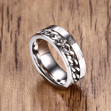 Rotatable Chain With Roman Numeral Stainless Steel Ring