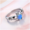 Blue Fire Claddagh Ring