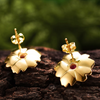 Peony Flower Earrings
