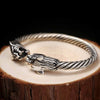 Tiger Open Cuff Sterling Silver Bangle - thatringshop