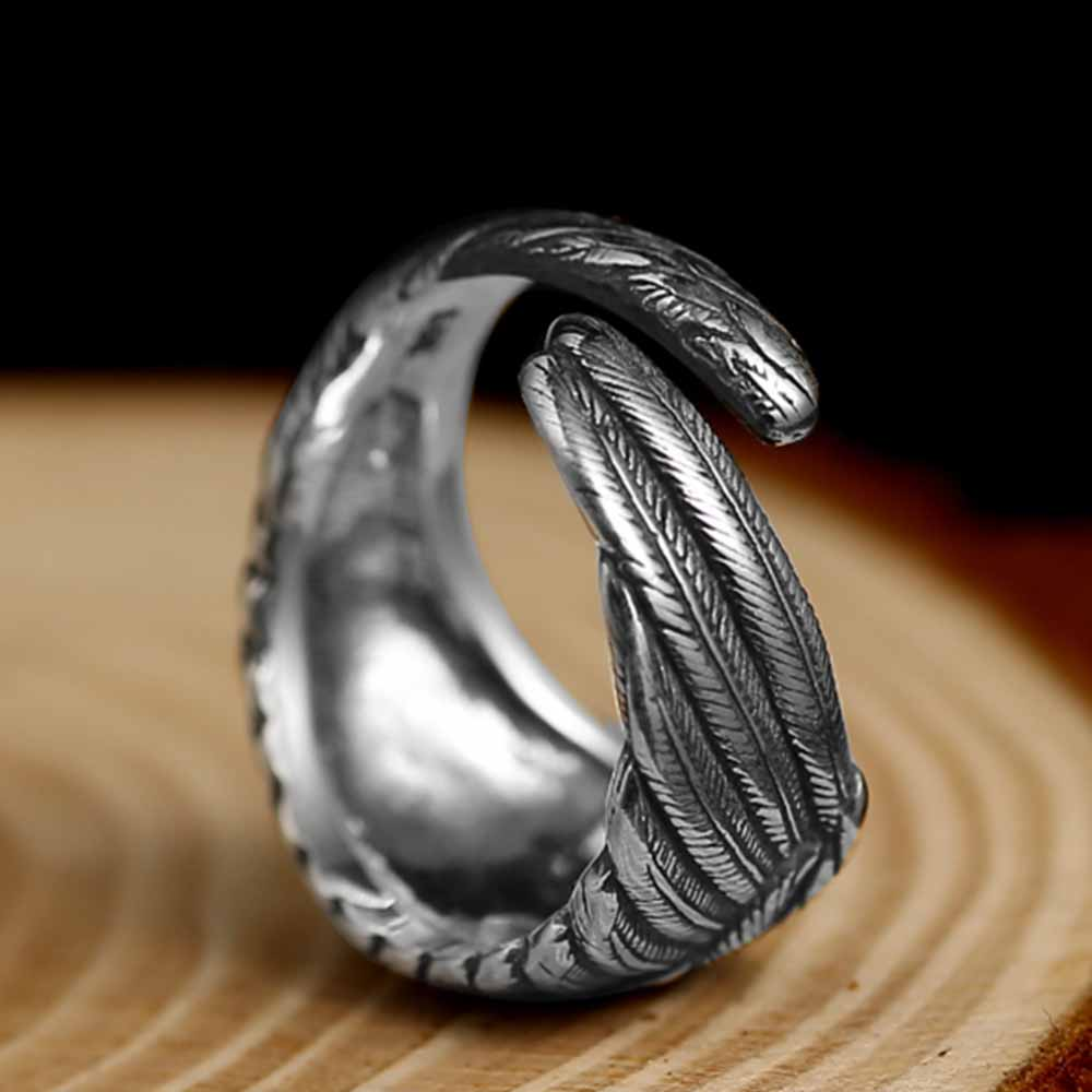 Vintage Eagle Wings Sterling Silver Ring