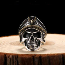 WW2 Skull Soldier Sterling Silver Ring