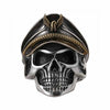 WW2 Skull Soldier Sterling Silver Ring - thatringshop