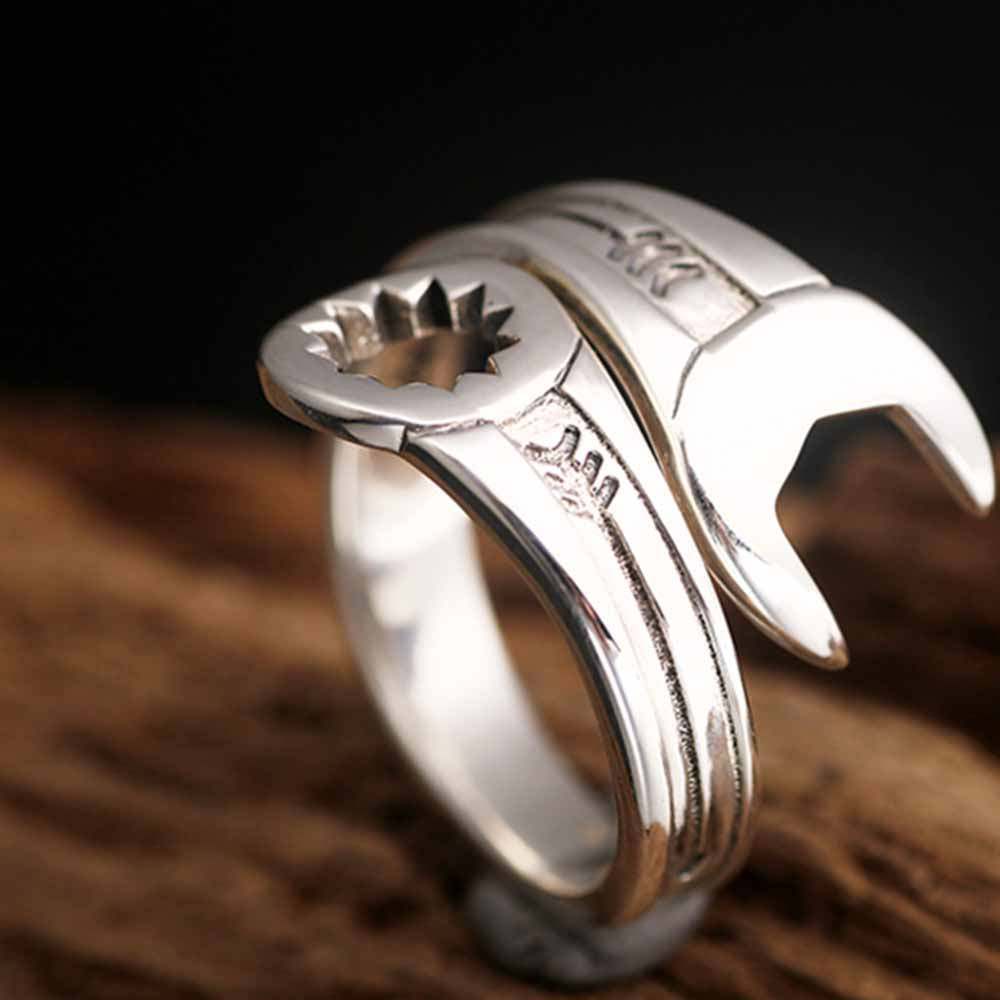 Wrench Sterling Silver Ring