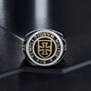 Knights Templar Steel Ring - thatringshop