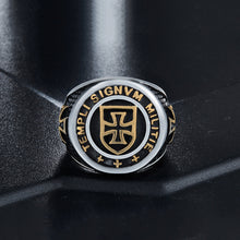 Knights Templar Steel Ring