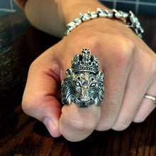 Lion Crown Sterling Silver Ring