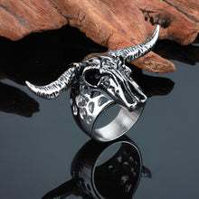 Bull Skull Stainless Steel Ring