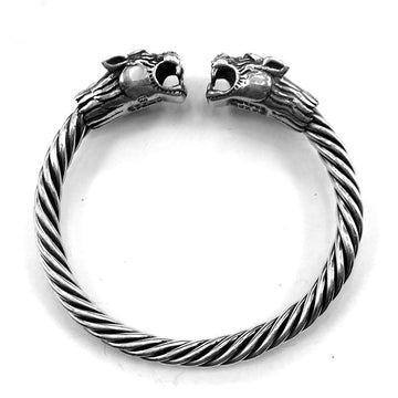 Tiger Open Cuff Sterling Silver Bangle