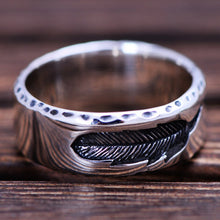 Eagle's Feather Sterling Silver Ring