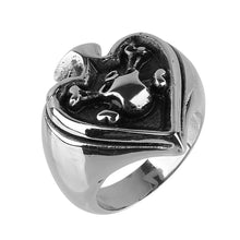 Ace of Spade Skull Steel Ring