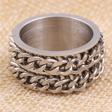 Double Chainer Spinner Ring