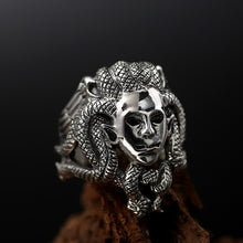 Medusa Sterling Silver Ring