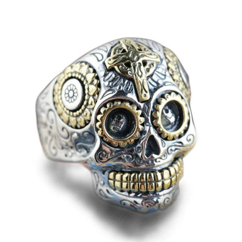 Mexican Punk Skull Ring