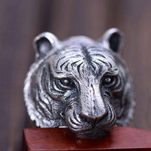 Tiger Sterling Silver Ring