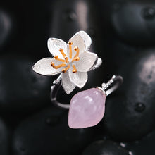 Jardin Asian Lotus Pink Crystal Ring
