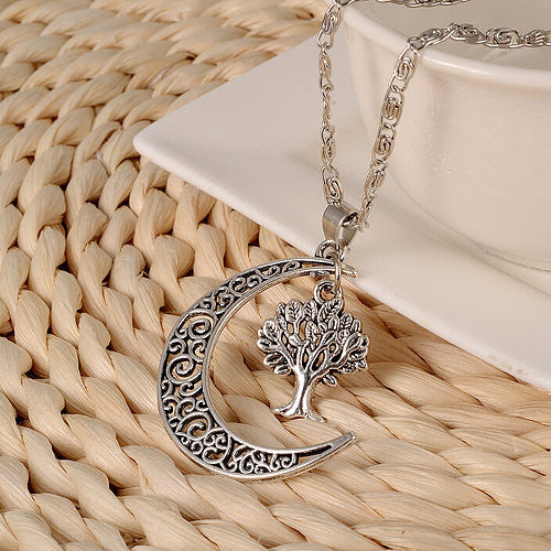 Moon & Tree Necklace
