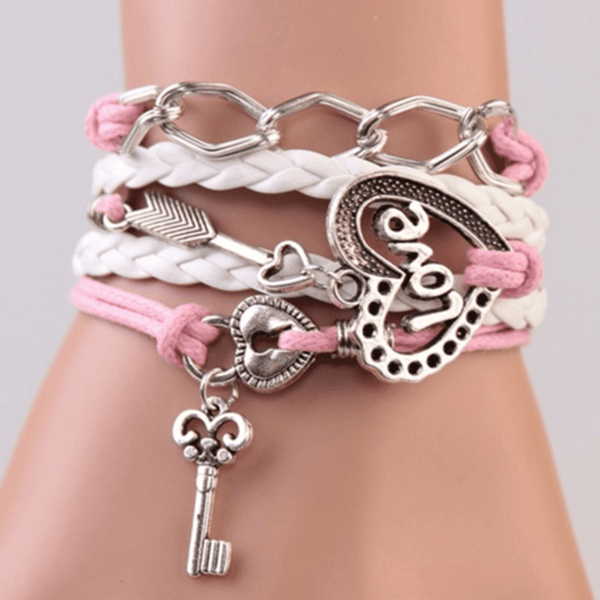 Lock and Key Love Handmade Bracelet