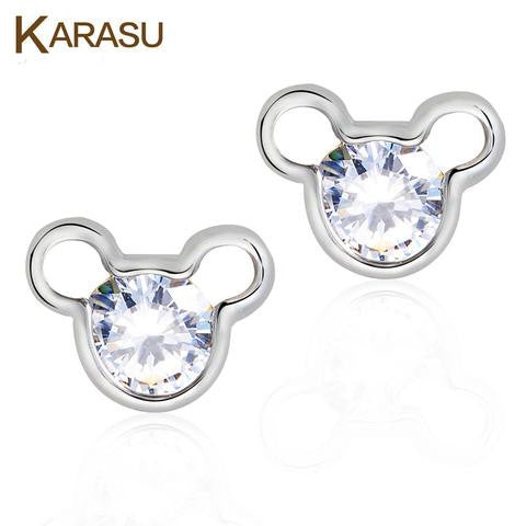 Mickey Cubic Zirconia Crystal earings