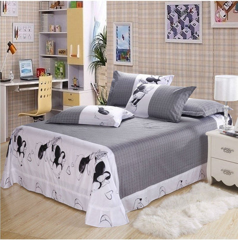 Luxury 100% Cotton linen Mickey 4pc Bedding set