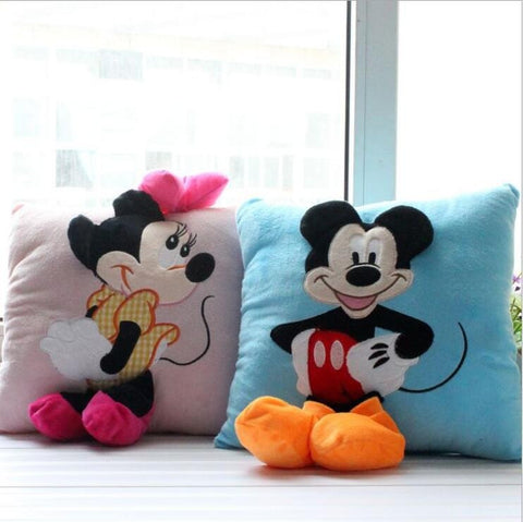 Luxury 2pcs 35*35cm Mickey and Minnie plush Cushion