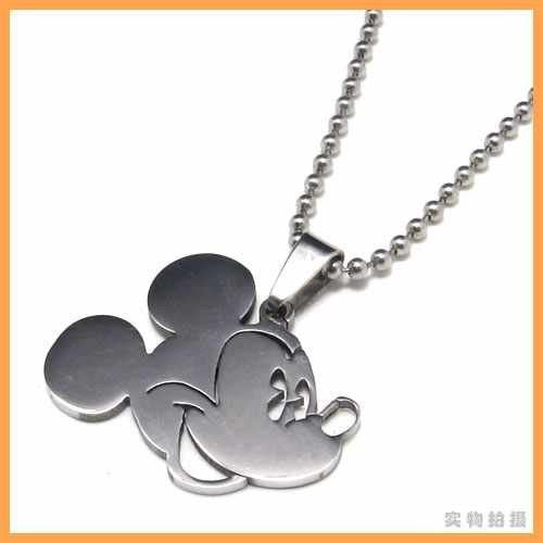Mickey Head Pendant Necklace