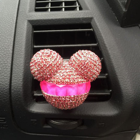 Luxury Crystal Mickey Car Air Refreshing Agent