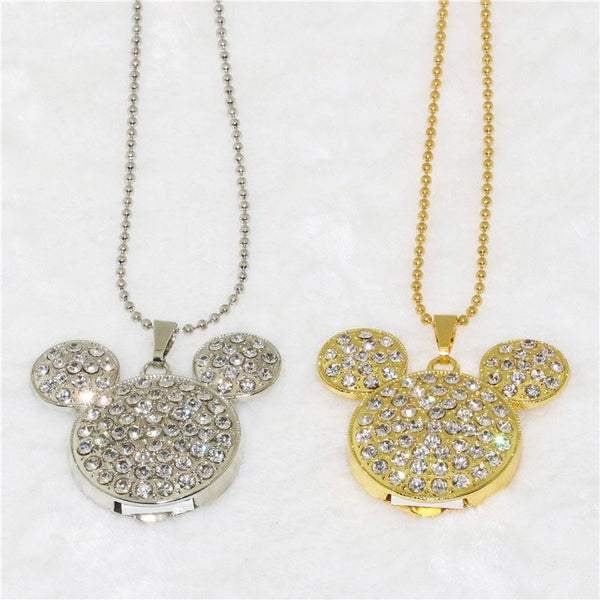 Crystal Mickey Necklace