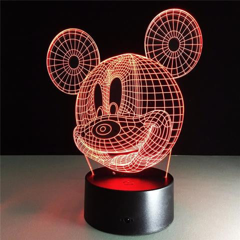 7 Color-Changing 3D LED Mickey night light