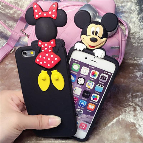 Luxury 3d Mickey/Minnie silicone cover case