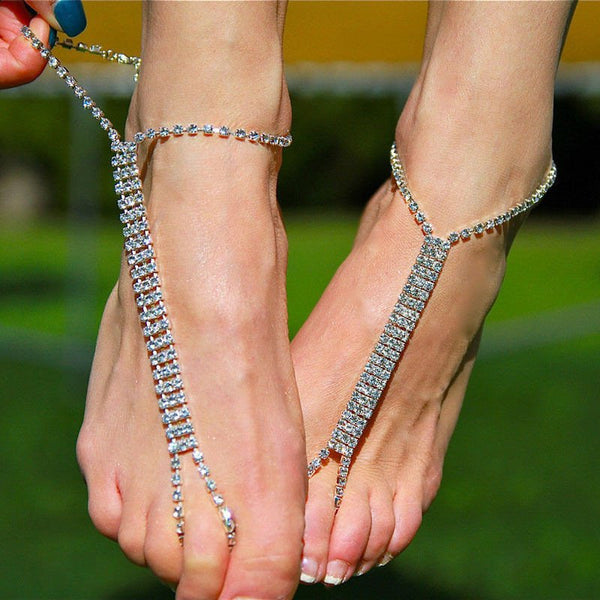 Barefoot Sandal Crystal Fashion Anklet