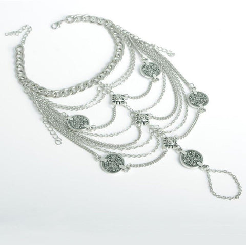 Fashion Sexy Silver Chain Anklet