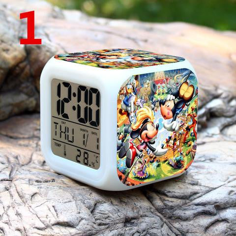 Mickey*Minnie *Duck Anime Calendar Thermometer Digital Led
