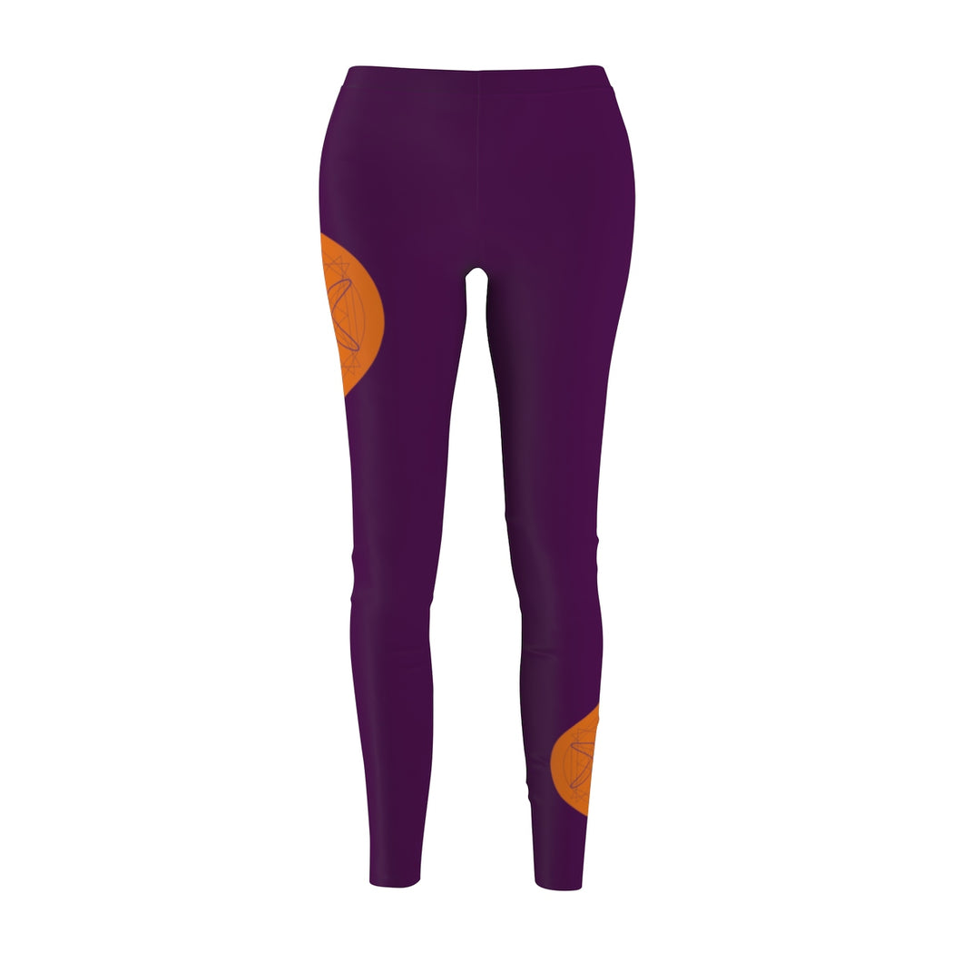 Geo - Women's Casual Leggings in Regal Purple