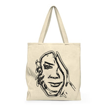 Face in Hand - Shoulder Tote Bag (Roomy)