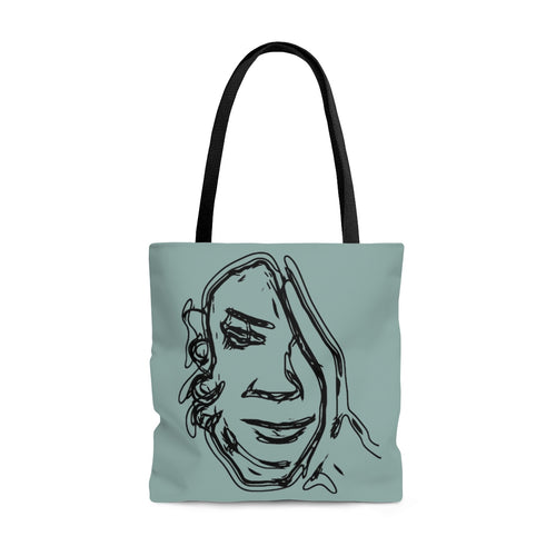 Face in Hand - Tote Bag