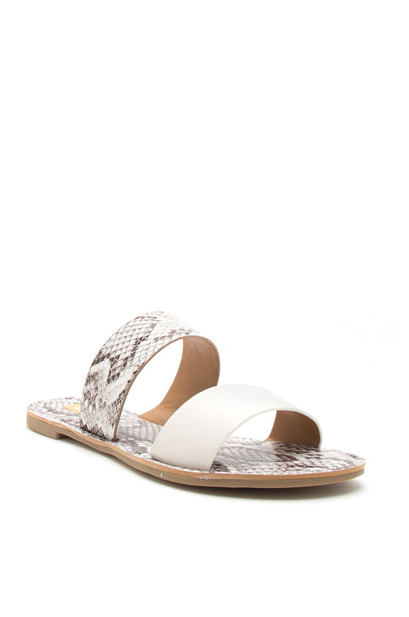 Havana Nights - Off White Snake Two Band Sandals