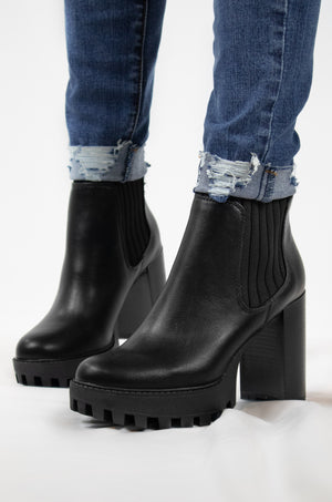 All Talk - Black Booties