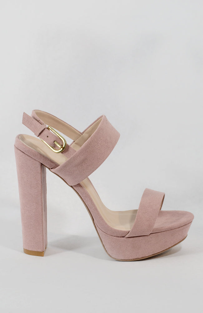 Baby Doll - Blush Slingback Platform Sandals