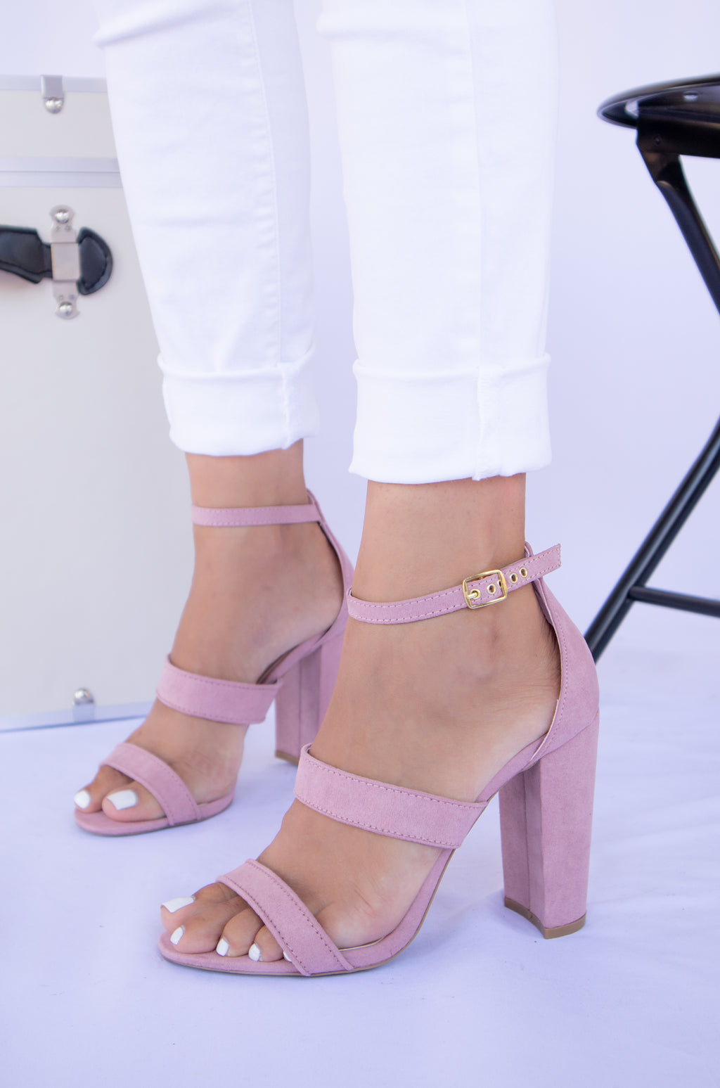 Baby Flirt - Desert Rose Triple Band Heels